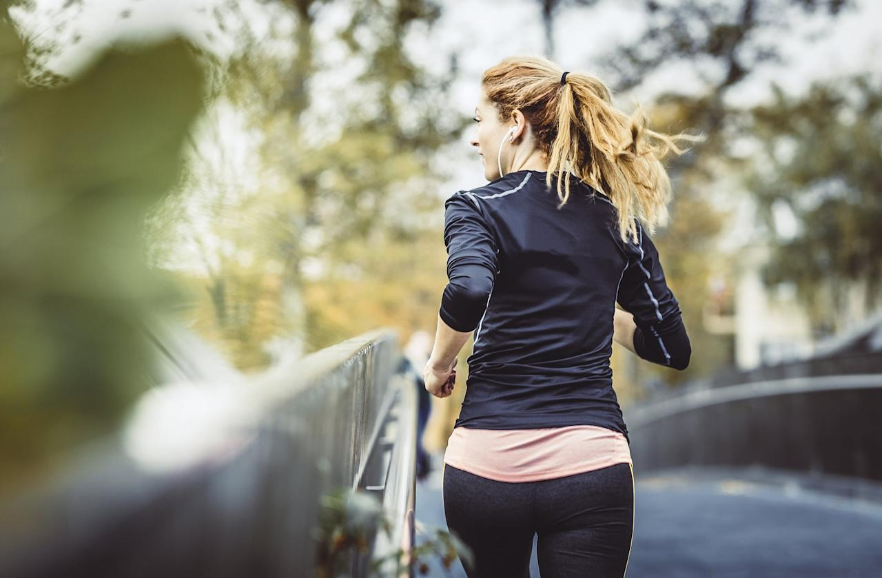 "<p>Becs said that a lot of people think that runners don't need to do upper-body strength training because you aren't using that part of your body during runs. ""They think it's just the legs that work,"" she said, but that's not true. ""You'll see a lot of good runners spend a lot of time in the gym working on cables. They work on their posterior chain, on their back, because you need a very strong upper back in order to hold your shoulders in that great open position and drive your arms for extended periods of time."" She added that when your legs get tired, having a good arm swing will help you keep moving forward. <a href=""https://www.popsugar.com/fitness/Strength-Workout-Runners-45702260"" class=""ga-track"" data-ga-category=""Related"" data-ga-label=""http://www.popsugar.com/fitness/Strength-Workout-Runners-45702260"" data-ga-action=""In-Line Links"">Check out this total-body strength workout for runners</a>.</p>"
