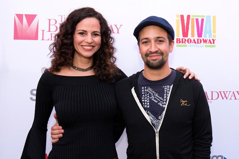 """""""I feel like my voice is synced with Lin after doing so many projects together,"""" Mandy Gonzalez said of """"Hamilton"""" creator Lin-Manuel Miranda."""