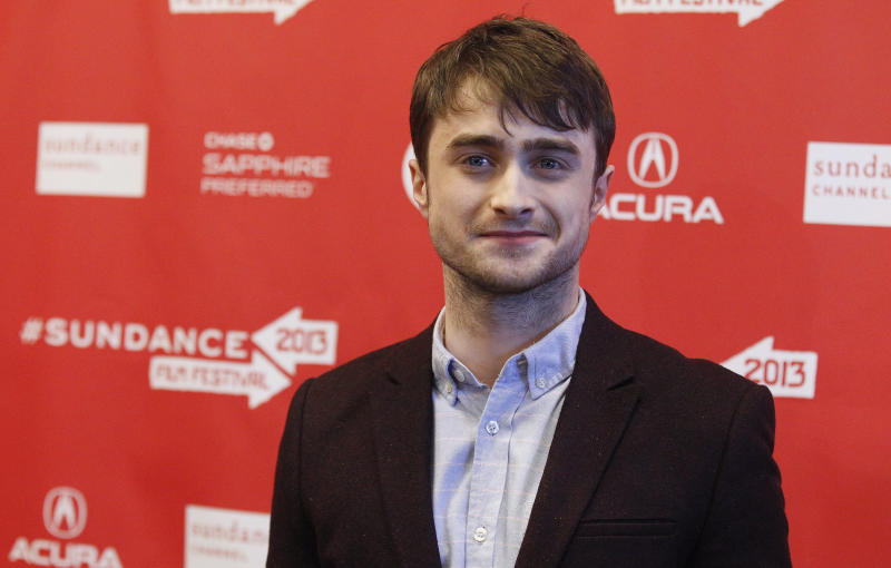 "Cast member Daniel Radcliffe poses at the premiere of ""Kill Your Darlings"" during the Sundance Film Festival in Park City, Utah January 18, 2013. REUTERS/Mario Anzuoni (UNITED STATES - Tags: ENTERTAINMENT)"