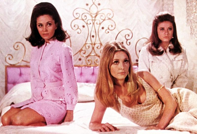 "Barbara Parkins, Sharon Tate, and Patty Duke in Valley of the Dolls"" from 1967."