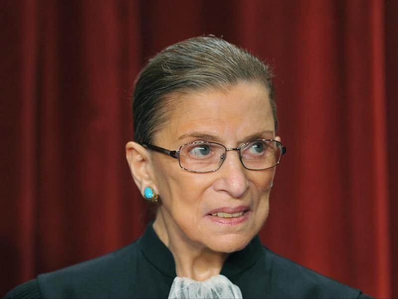 Ruth Bader Ginsburg died on Friday from complications of cancer. She was 87 (AFP/Getty)