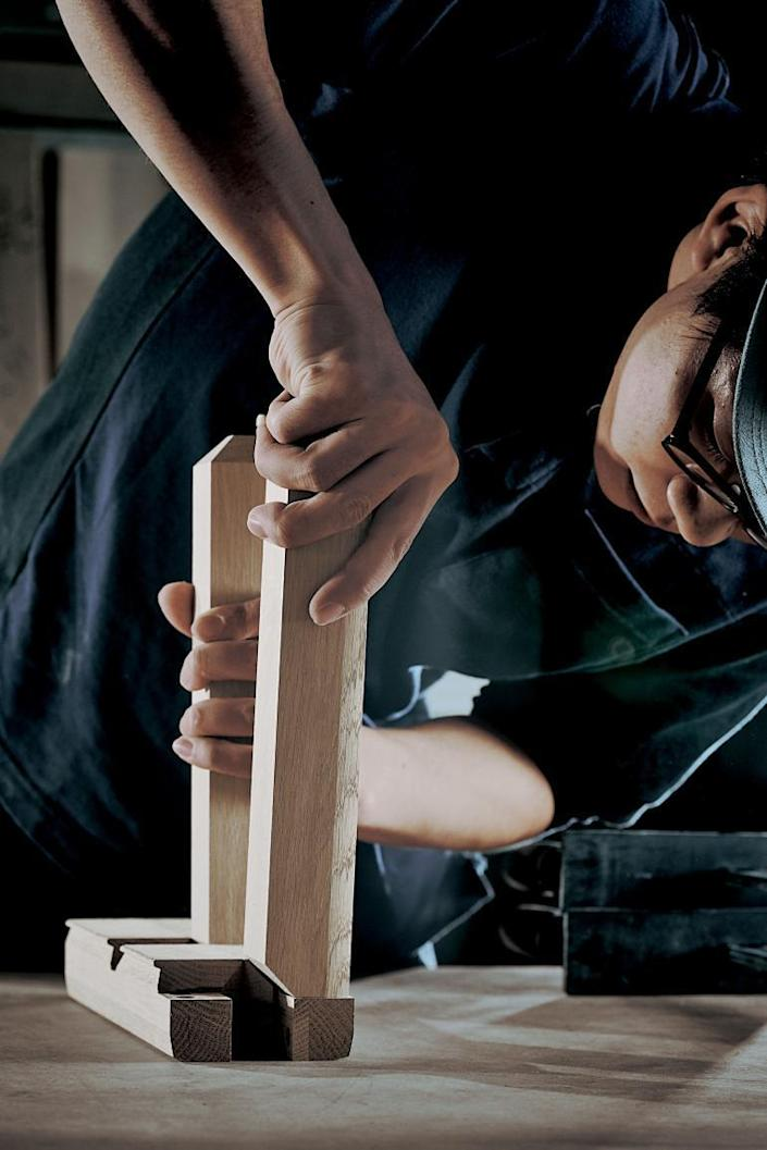 Time & Style craftsmen hand-assemble elegant pieces for the company's new collaborative effort with De Padova.