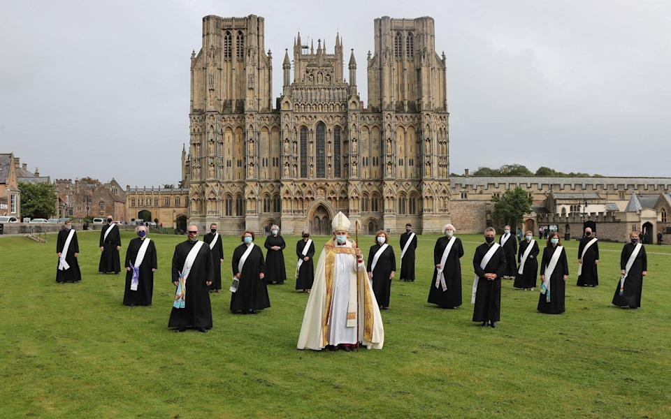 Last month, 17 new Anglican deacons (priests in their first year of ministry) were ordained at Wells Cathedral in a socially distanced service due to coronavirus restrictions which prevented their families attending - APEX