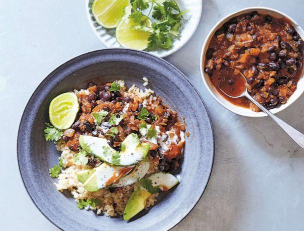 PHOTO: Brown rice and vegetable burrito bowls from Lindsay Maitland Hunt's second cookbook, 'Help Yourself: A Guide to Gut Health for People who Love Delicious Food.' (Linda Pugliese)