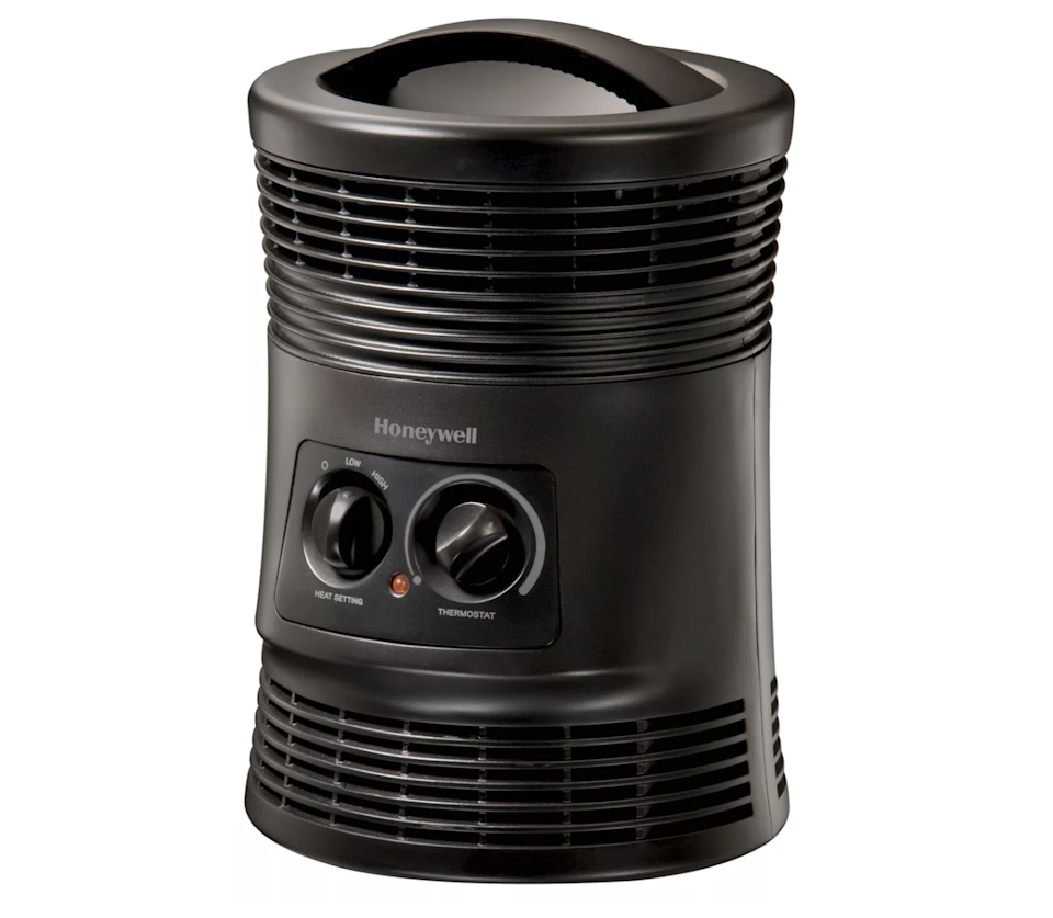 "<h2>Honeywell 360 Surround Indoor Heater</h2><br>Honeywell has been around for a long, long time, and for good reason: this space heater is easy to set up, use, and store away in small spaces. <br><br><strong>The Hype:</strong> 4.1 out of 5 stars and 435 reviews on <a href=""https://www.target.com/p/honeywell-hhf360b-1500w-360-surround-indoor-heater-black/-/A-49107839"" rel=""nofollow noopener"" target=""_blank"" data-ylk=""slk:Target"" class=""link rapid-noclick-resp"">Target</a><br><br><strong>Warm People Say: </strong>""This heater is so awesome. This also has tip-over protection, it will only stay on in the upright position. It cool-touch housing so no worry about anyone touching it and getting hurt. It has 2 different settings; high and low. And an adjustable thermostat. This has been perfect for our house."" - <em>Stamicfar, Target reviewer</em><br><br><strong>Honeywell</strong> Honeywell 360 Surround Indoor Heater, $, available at <a href=""https://go.skimresources.com/?id=30283X879131&url=https%3A%2F%2Fwww.target.com%2Fp%2Fhoneywell-hhf360b-1500w-360-surround-indoor-heater-black%2F-%2FA-49107839%23lnk%3Dsametab"" rel=""nofollow noopener"" target=""_blank"" data-ylk=""slk:Target"" class=""link rapid-noclick-resp"">Target</a>"