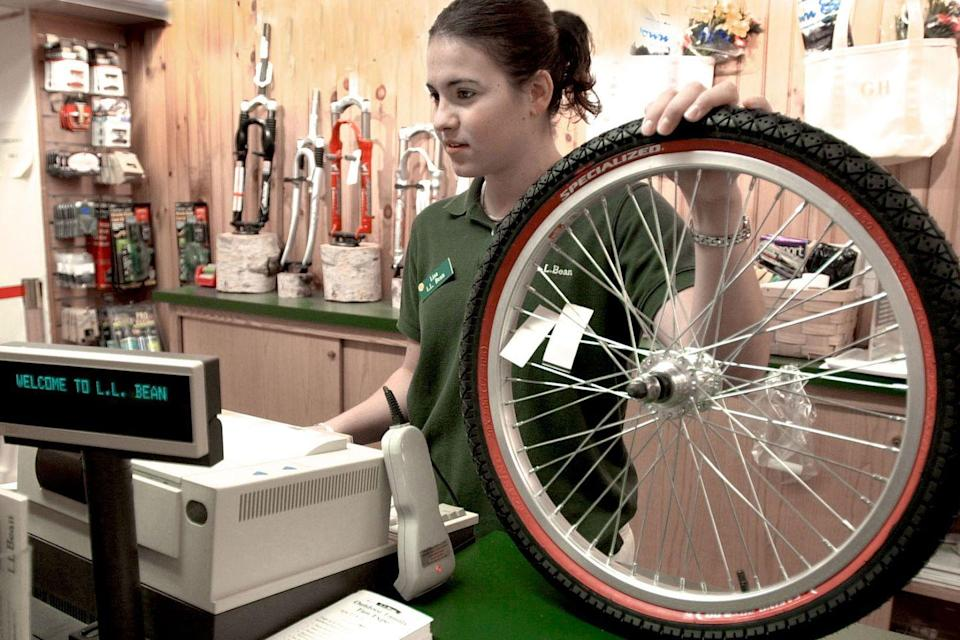 <p>A college student worked the register at L.L. Bean in the summer of 2001.</p>
