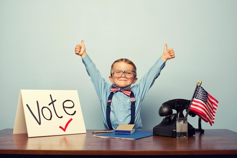 There are developmentally appropriate ways to talk to children about the democratic process. (Photo: RichVintage via Getty Images)