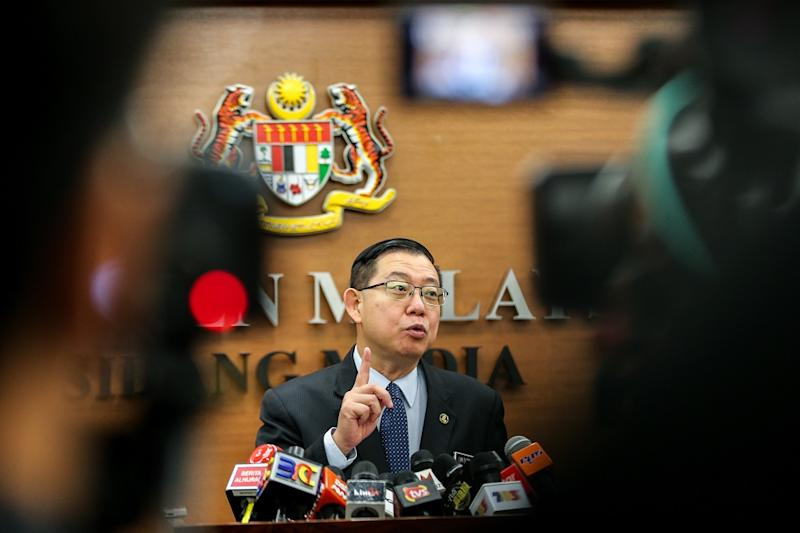 Guan Eng has estimated the cost of operating the East Coast Rail Line at between RM600 million and RM1 billion. — Picture by Ahmad Zamzahuri