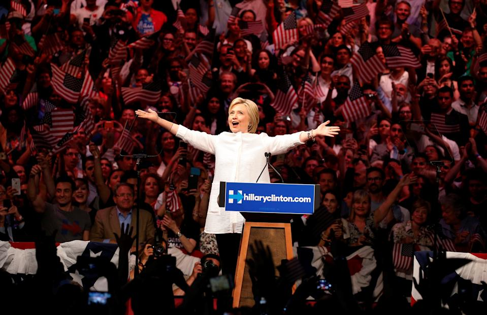 Hillary Clinton during her 2016 election campaign