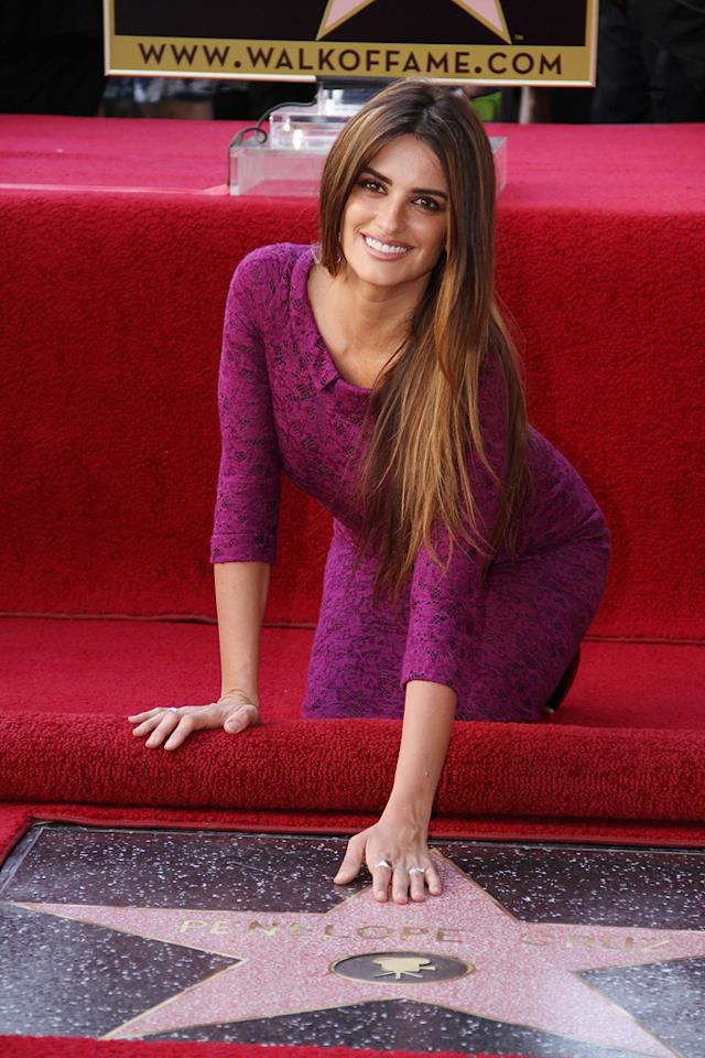 """<a href=""""http://movies.yahoo.com/movie/contributor/1800019548"""">Penelope Cruz</a> was honored with a star on The Hollywood Walk of Fame in Hollywood on April 1, 2011."""