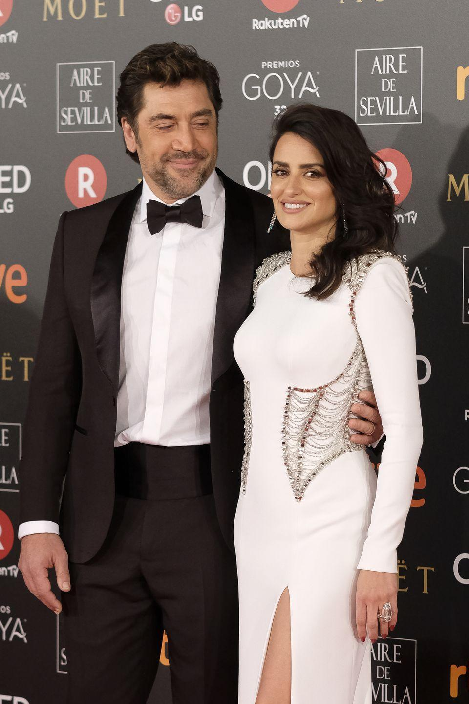 """<p>While Penelope Cruz and Javier Bardem have always been a tight-lipped couple, their <a href=""""https://www.glamour.com/story/penelope-cruz-and-javier-barde"""" rel=""""nofollow noopener"""" target=""""_blank"""" data-ylk=""""slk:simple elopement"""" class=""""link rapid-noclick-resp"""">simple elopement</a> takes the cake for secret Hollywood weddings. In 2010, in front of only their family, the couple made it official at their friend's home in the Bahamas.</p>"""