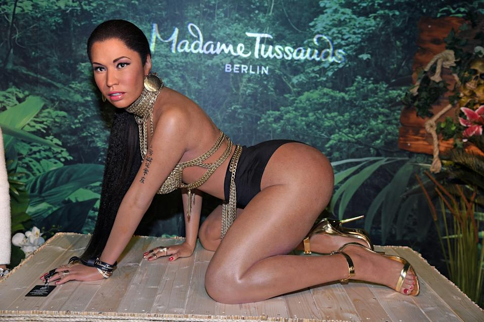 BERLIN, GERMANY - JANUARY 07:  The new Nicki Minaj wax figure gets unveiled at Madame Tussauds Berlin on January 7, 2020 in Berlin, Germany. (Photo by Tristar Media/Getty Images)