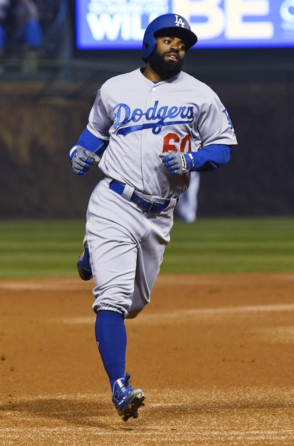 Andrew Toles played in parts of three seasons (2016-18) with the Dodgers.