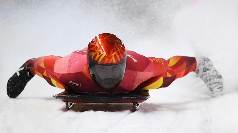 Winter Olympics 2018: Spanish slider's homemade shoes led to 'grater' success