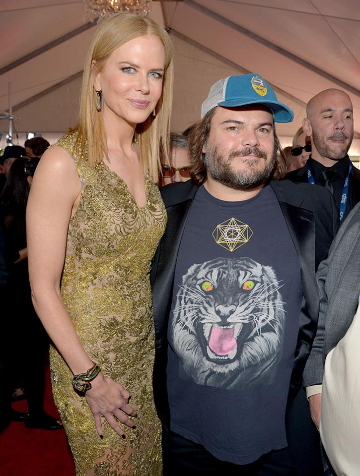 Nicole Kidman and Jack Black arrive at the 55th Annual Grammy Awards at the Staples Center in Los Angeles, CA on February 10, 2013.