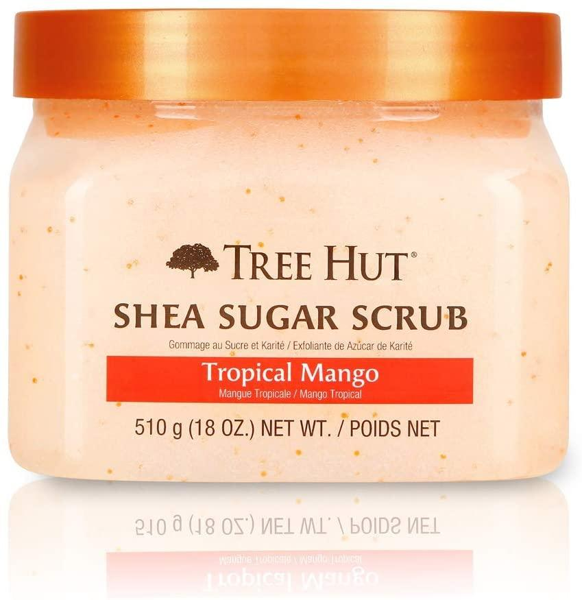 Tree Hut Shea Sugar Scrub in Tropical Mango - available on Amazon Canada for $45.
