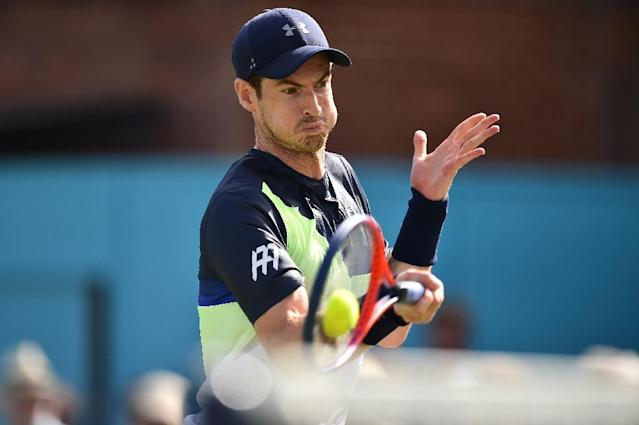 By the seaside: Andy Murray takes a wild card at Eastbourne (AFP Photo/Glyn KIRK )