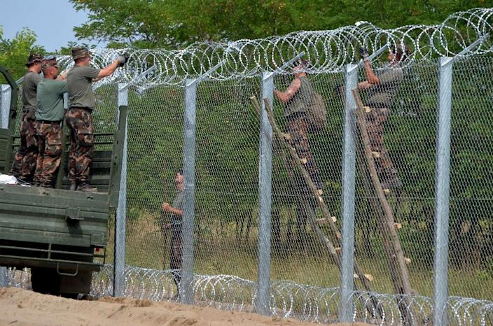 A particular source of EU friction is Hungary, which lies at the end of this Balkans route. It has sealed its border with Serbia and is threatening to follow suit with Croatia, currently the main crossing point (AFP Photo/Csaba Segesvari)