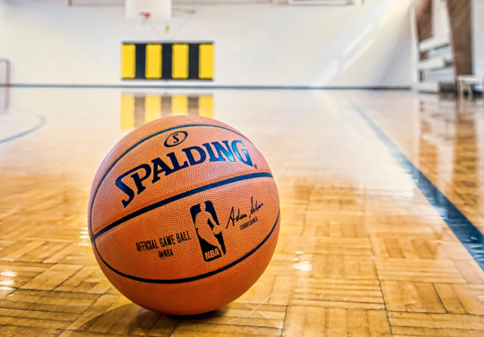 The official NBA game ball retails for $170. (Photo by Spalding)