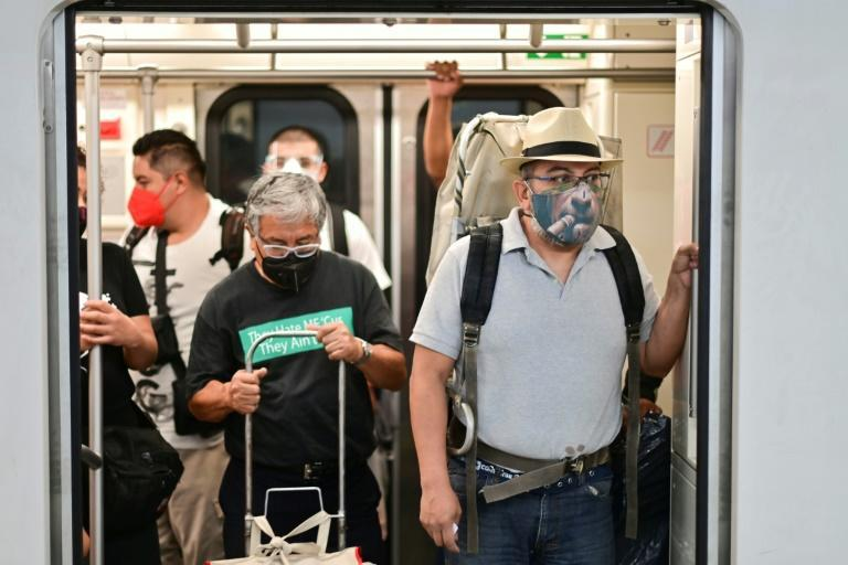 Mexico City's subway and public buses are also busy during rush hour