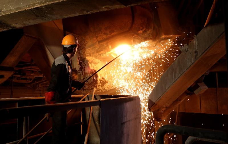 Iran's steel industry accounts for two-thirds of revenues from the country's metal exports (AFP Photo/Atta KENARE)