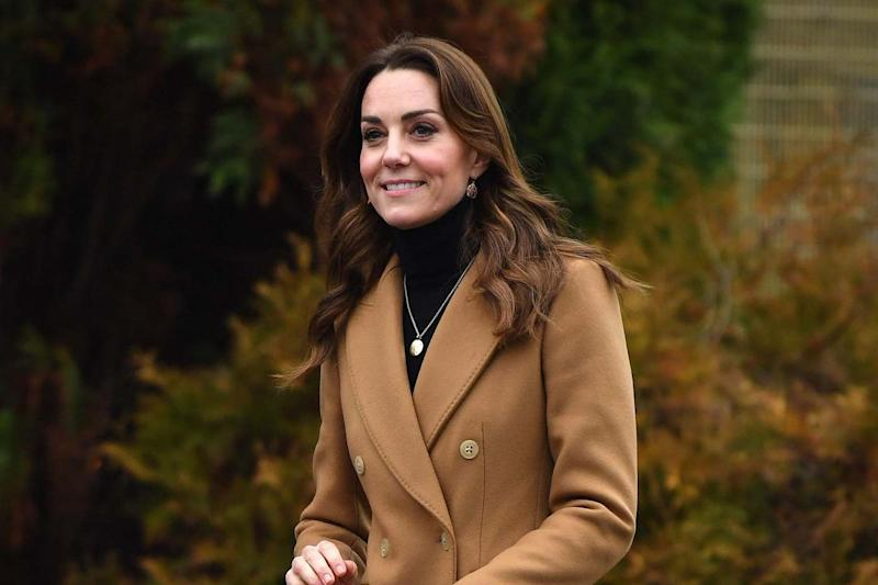 Duchess of Cambridge reacts as she leaves after visiting HMP Send in Woking: AFP via Getty Images