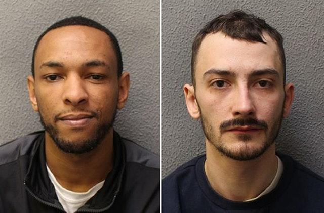 Ashley Smith (left) and Jordan Northover (Met Police/PA)