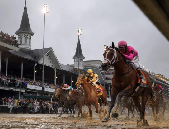 Churchill Downs is set to reopen next month, but it will be a while before things are normal in Kentucky again. (AP Photo/Matt Slocum, File)