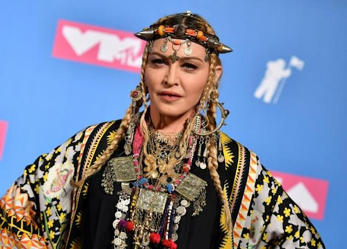 Time for change: Singer Madonna signed an open letter calling on leaders to use the coronavirus crisis to change the way we live (AFP Photo/ANGELA WEISS)
