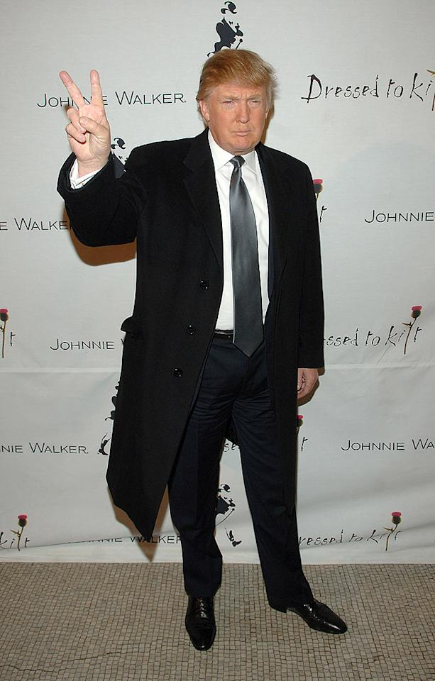 "King of the comb-over, Donald Trump. Stephen Lovekin/<a href=""http://www.wireimage.com"" target=""new"">WireImage.com</a> - April 2, 2007"