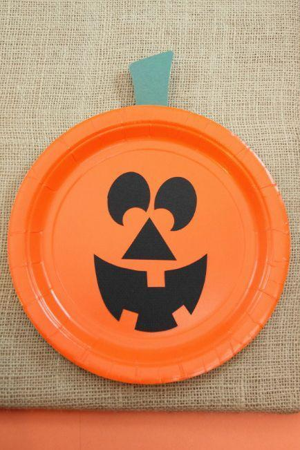 """<p>Watch your toddler's eyes light up when they see their very own jack-o'-lantern come to life from a mere paper plate and construction paper.</p><p><strong>Get the tutorial at <a href=""""http://www.housingaforest.com/easy-paper-plate-pumpkins/"""" rel=""""nofollow noopener"""" target=""""_blank"""" data-ylk=""""slk:Housing a Forest"""" class=""""link rapid-noclick-resp"""">Housing a Forest</a>.</strong> </p>"""