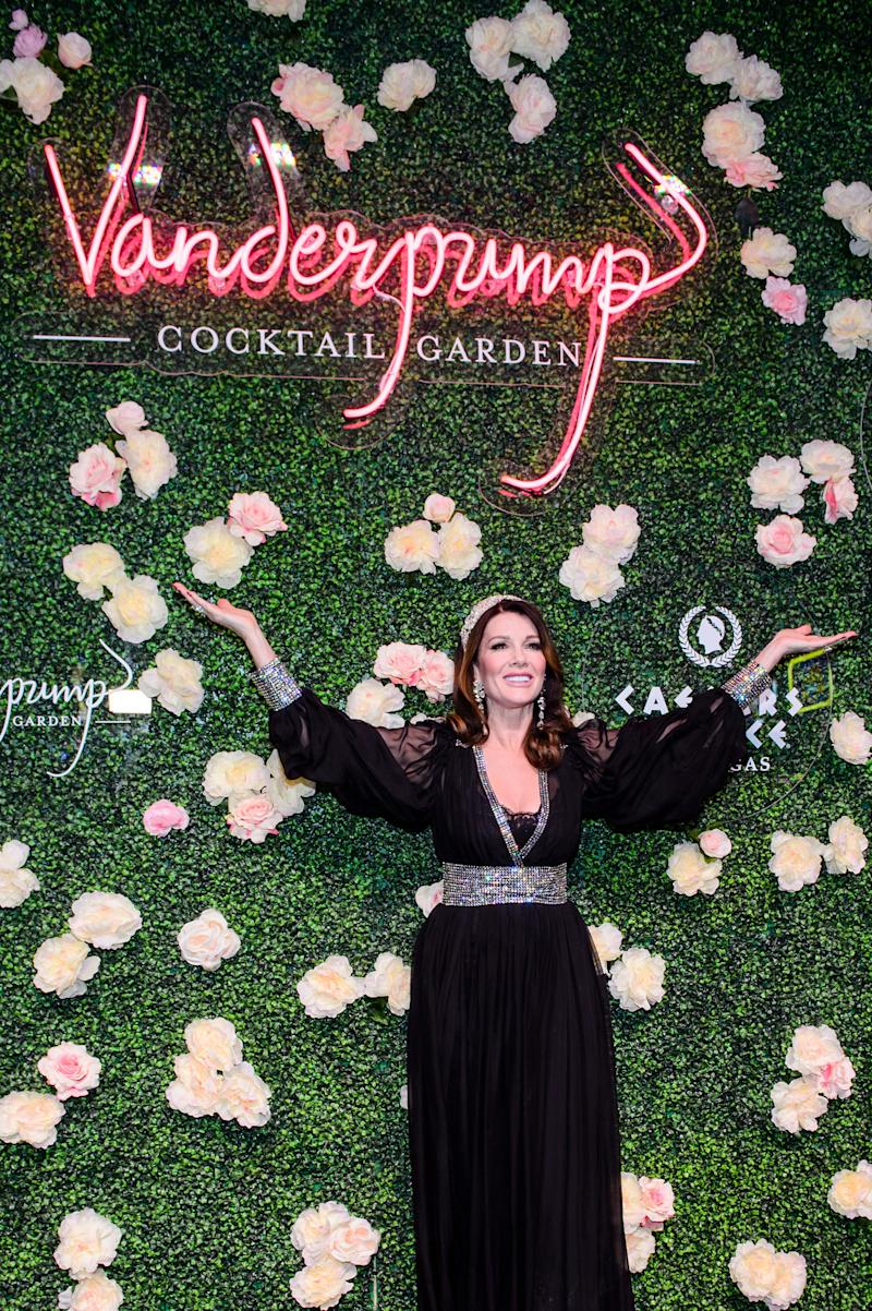 Lisa Vanderpump celebrates the grand opening of Vanderpump Cocktail Garden at Caesars Palace.