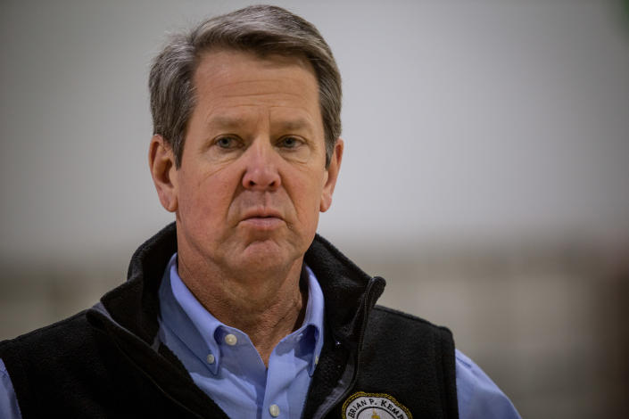 Georgia Gov. Brian Kemp. (Ron Harris, AP, pool)