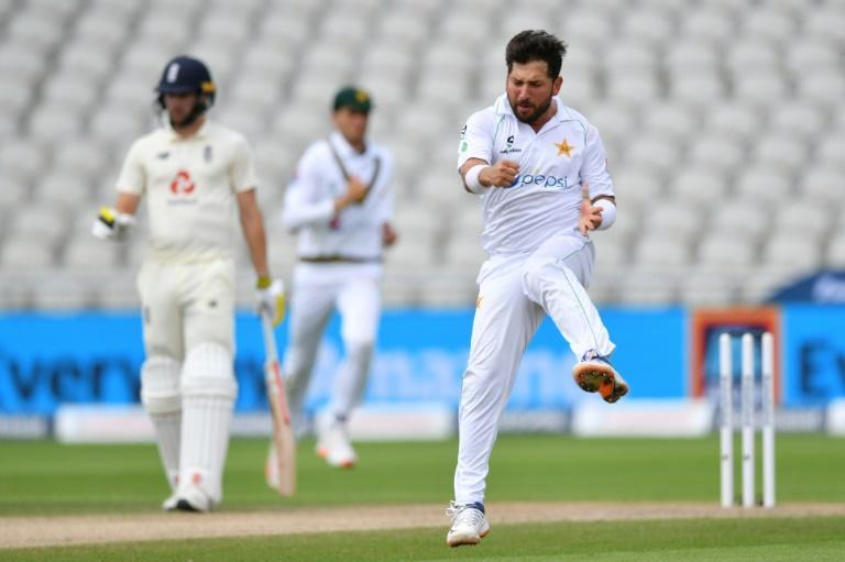 Pakistan's Yasir Shah took four wickets as England were bundled out for 219 in the first Test at Old Trafford