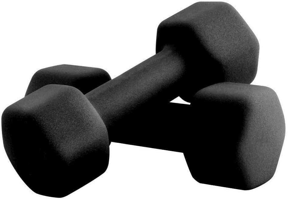 """<p>The two-pound pair of <span>Portzon: Set of 2 Neoprene Dumbbell Hand Weights</span> ($12) are an affordable soft-grip option that will ship for free with <a href=""""https://www.popsugar.com/latest/Amazon-Prime"""" class=""""link rapid-noclick-resp"""" rel=""""nofollow noopener"""" target=""""_blank"""" data-ylk=""""slk:Amazon Prime"""">Amazon Prime</a>. </p>"""
