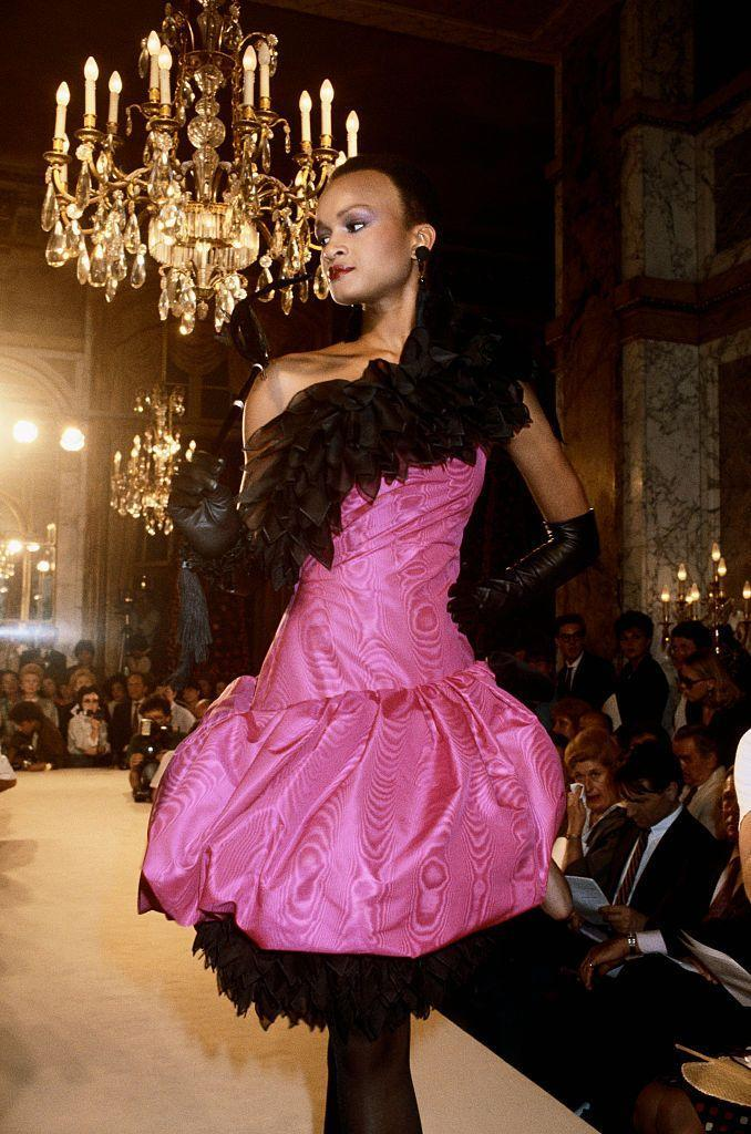 <p>By 1982, designers such as Dior were employing bright colors, ruffles, and padding to add drama to a person's daily look.<br></p>
