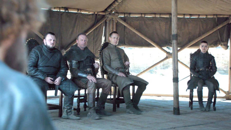 Water bottles were spotted during the most important scene of Game of Thrones