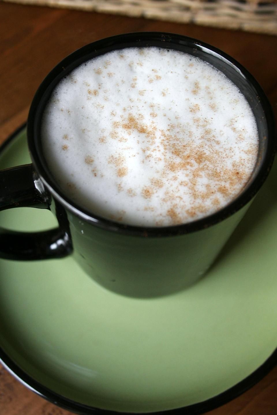 """<p>Chai tea is a fan favorite, and for good reason! When black tea is infused with cinnamon, cloves, and other warming spices, it results in a drool-worthy balance of sweet and spicy. Just add steamed milk.</p> <p><strong>Original Starbucks Drink:</strong> <a href=""""http://www.starbucks.com/menu/drinks/tea/chai-latte"""" class=""""link rapid-noclick-resp"""" rel=""""nofollow noopener"""" target=""""_blank"""" data-ylk=""""slk:classic chai tea latte"""">classic chai tea latte</a></p> <p><strong>Homemade Version:</strong> <a href=""""https://www.popsugar.com/food/How-Make-Homemade-Chai-Tea-Lattes-19308913"""" class=""""link rapid-noclick-resp"""" rel=""""nofollow noopener"""" target=""""_blank"""" data-ylk=""""slk:chai tea latte"""">chai tea latte</a></p>"""
