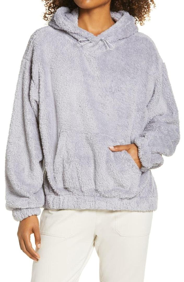 <p>This <span>Zella Fleece Hoodie</span> ($35, originally $69) is perfect for chilly weather.</p>