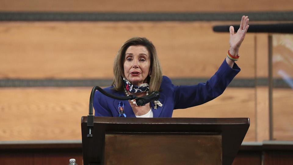 "<p>Representative Nancy Pelosi, who served with Lewis in the House of Representatives for over three decades, gave her own remarks. ""When John Lewis served with us, he wanted us to see the civil rights movement and the rest through his eyes,"" she said.</p>"