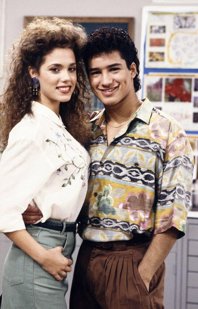 Elizabeth Berkley and Mario Lopez | Joseph Del Valle/NBC