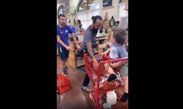PHOTO: Alexandra Seba, mom to Julian Sol, 1 and Jade, 3, captured the moment on video when three Trader Joe's workers performed a dance for her toddler son in Florida. (Alexandra Seba)