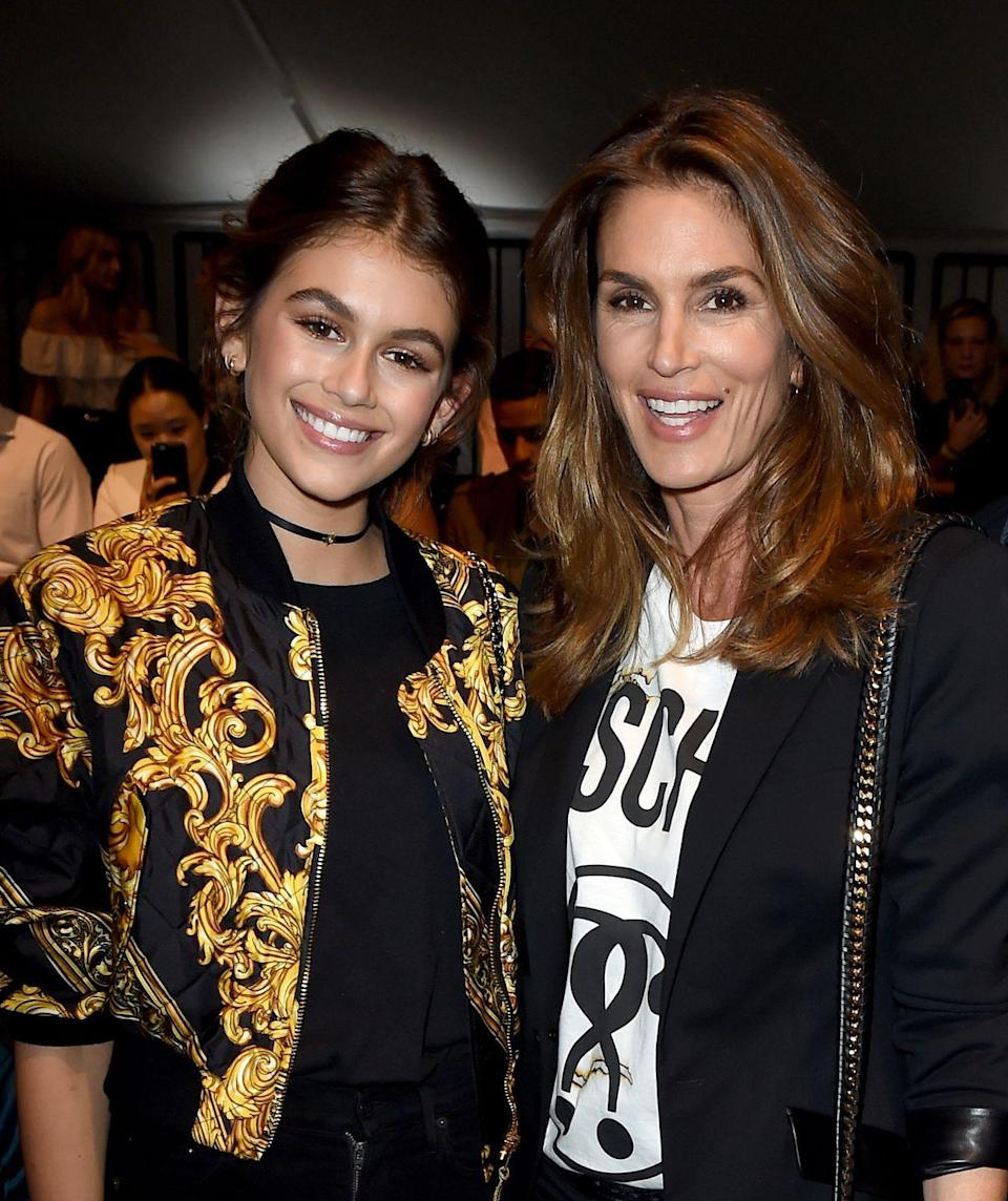 """<p><strong>Famous parent(s)</strong>: supermodel Cindy Crawford<br><strong>What it was like</strong>: """"I think it was only on my eighth birthday, at Disneyland, that I started to understand what was going on,"""" she <a href=""""http://www.teenvogue.com/story/kaia-gerber-talks-school-summer-being-a-role-model-cover-interview-volume-3"""" rel=""""nofollow noopener"""" target=""""_blank"""" data-ylk=""""slk:said"""" class=""""link rapid-noclick-resp"""">said</a>. """"I wanted to take pictures with the princesses, and everyone wanted to take pictures with her!""""</p>"""