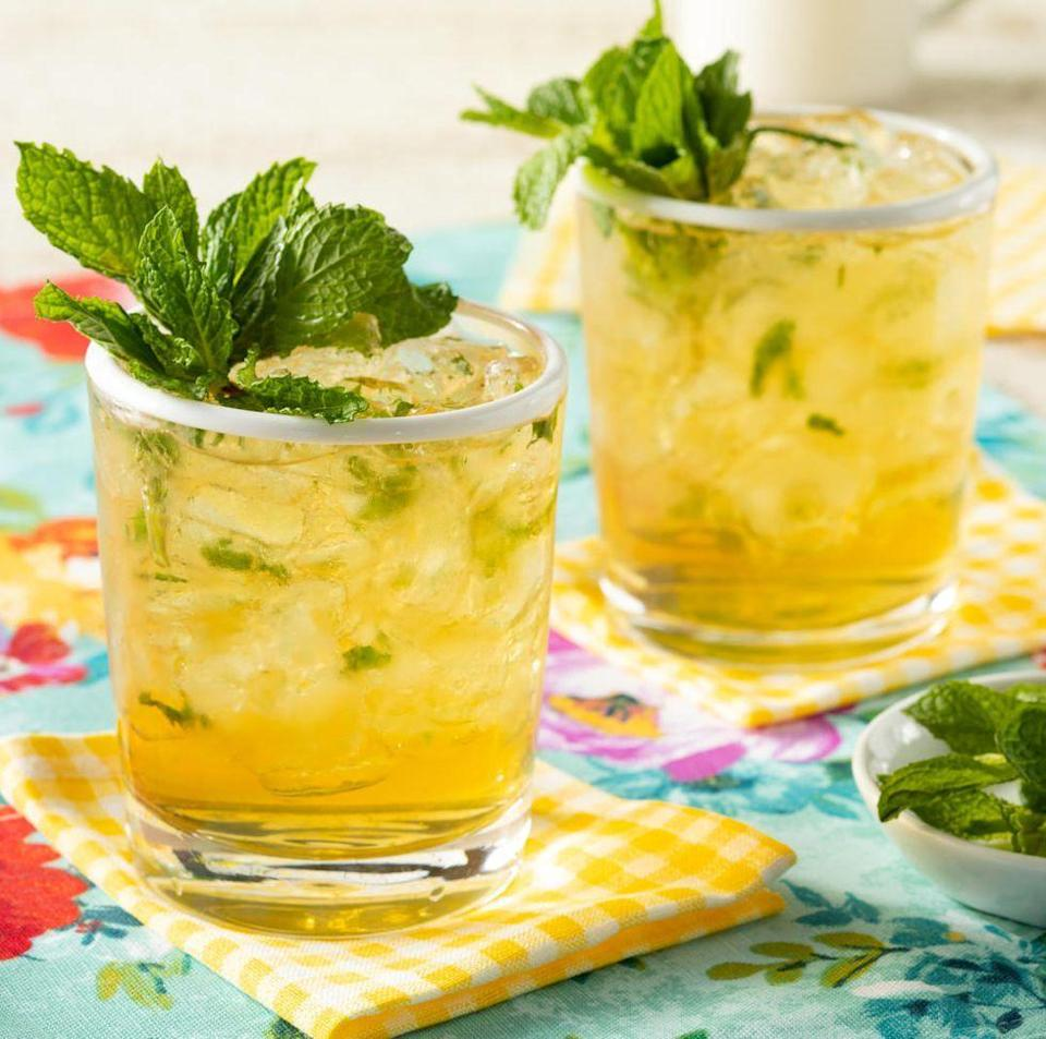 """<p>This cocktail is typically known as the drink of the Kentucky Derby, but thanks to its refreshing and minty flavor, we'll be savoring it all summer long, including on the 4th of July. Serve it over a glass filled with crushed ice for best results. </p><p><a href=""""https://www.thepioneerwoman.com/food-cooking/recipes/a35812756/mint-julep/"""" rel=""""nofollow noopener"""" target=""""_blank"""" data-ylk=""""slk:Get the recipe."""" class=""""link rapid-noclick-resp""""><strong>Get the recipe. </strong></a></p><p><a class=""""link rapid-noclick-resp"""" href=""""https://go.redirectingat.com?id=74968X1596630&url=https%3A%2F%2Fwww.walmart.com%2Fsearch%2F%3Fquery%3Dice%2Btrays&sref=https%3A%2F%2Fwww.thepioneerwoman.com%2Ffood-cooking%2Fmeals-menus%2Fg36432840%2Ffourth-of-july-drinks%2F"""" rel=""""nofollow noopener"""" target=""""_blank"""" data-ylk=""""slk:SHOP ICE TRAYS"""">SHOP ICE TRAYS</a></p>"""