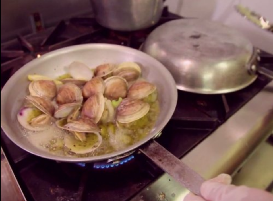 """<p>With so many restaurants clamoring for a spot on the hit show, many wonder what it takes to catch Guy's eye. """"Guy will spot a unique ingredient or a way of preparing a dish that's different and chooses that,"""" executive producer Frank Matson told <em><a href=""""https://people.com/food/guy-fieri-secrets-from-set-triple-d/"""" rel=""""nofollow noopener"""" target=""""_blank"""" data-ylk=""""slk:PEOPLE"""" class=""""link rapid-noclick-resp"""">PEOPLE</a></em>.</p>"""