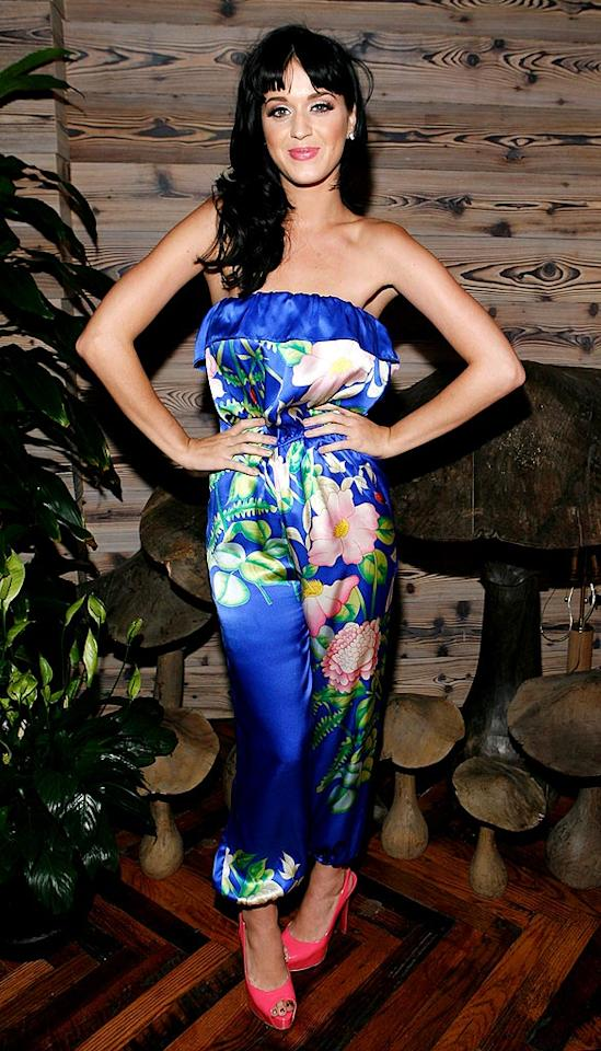 """We love that Katy Perry has a unique sense of style. We'd just like to see her in something a little less dramatic from time to time. Amy Sussman/<a href=""""http://www.gettyimages.com/"""" target=""""new"""">GettyImages.com</a> - July 28, 2009"""