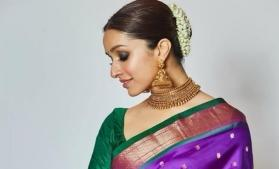 Shraddha Kapoor wears her mom's saree for Bachchans' Diwali party