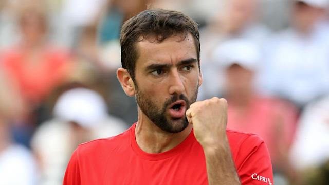 Marin Cilic will face Sam Querrey in the last eight at Queen's Club after the latter dumped out three-time major winner Stan Wawrinka.