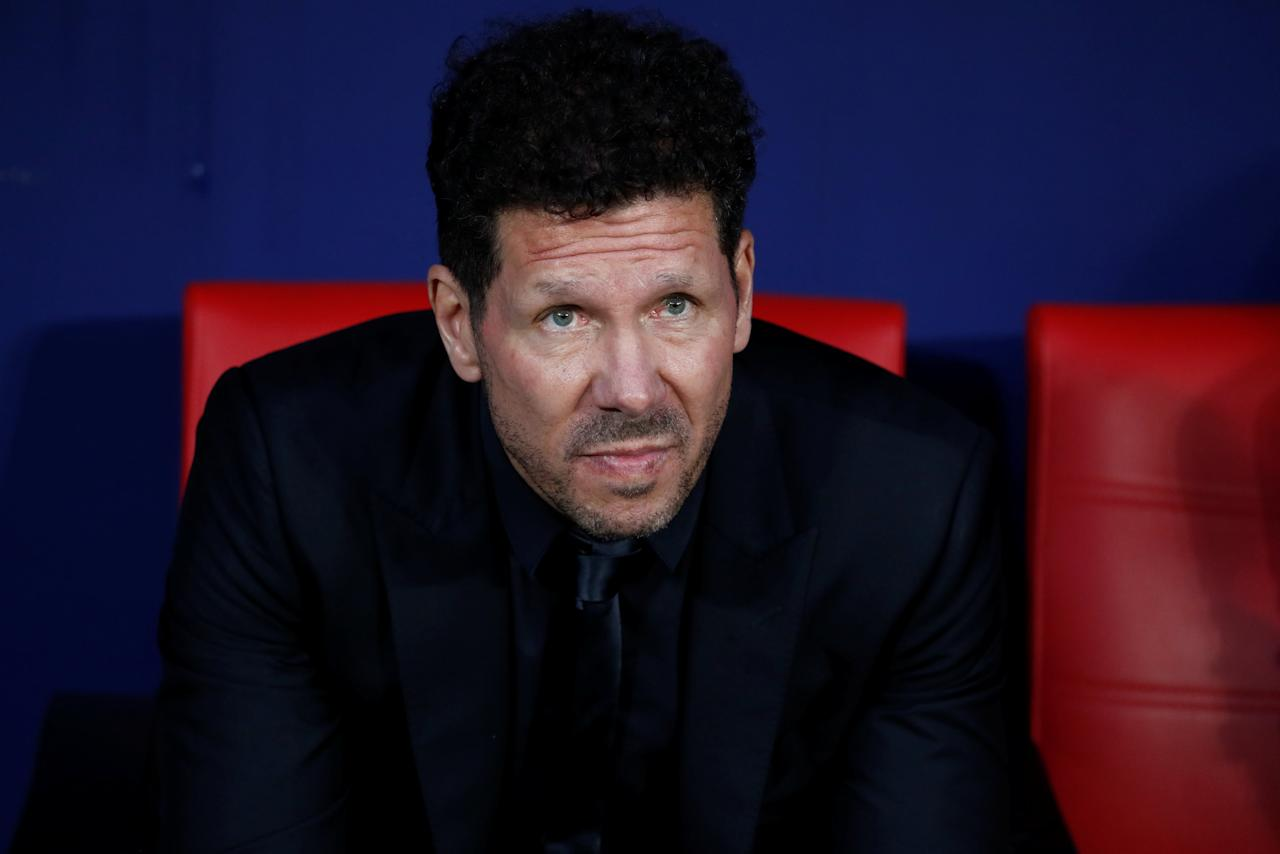 Soccer Football - La Liga Santander - Atletico Madrid v Real Betis - Wanda Metropolitano, Madrid, Spain - April 22, 2018  Atletico Madrid coach Diego Simeone before the match   REUTERS/Juan Medina