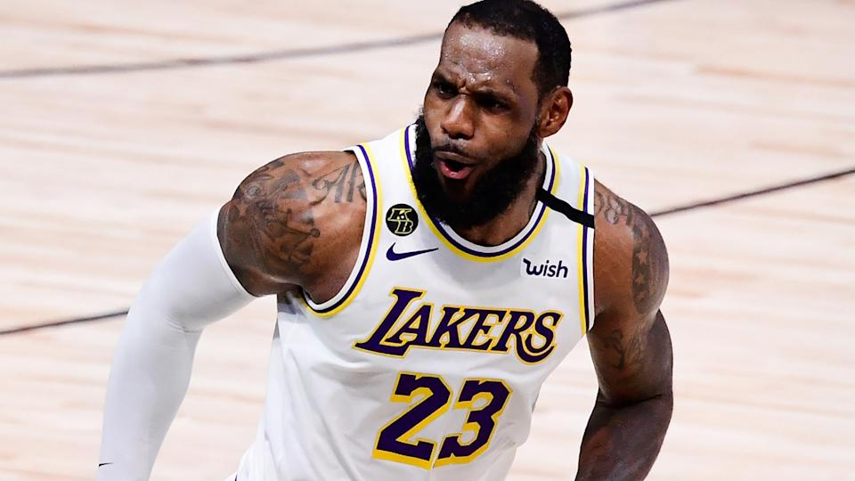 LeBron James, pictured here in action for the Los Angeles Lakers in the 2020 NBA Finals.